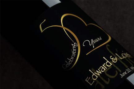 50th Anniversary Wine Bottle Labels 1