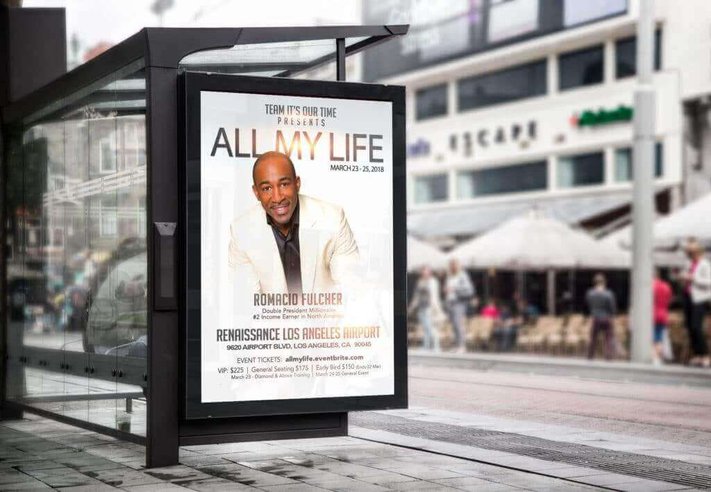 All My Life Presentation Poster displayed on billboard in Los Angeles CA