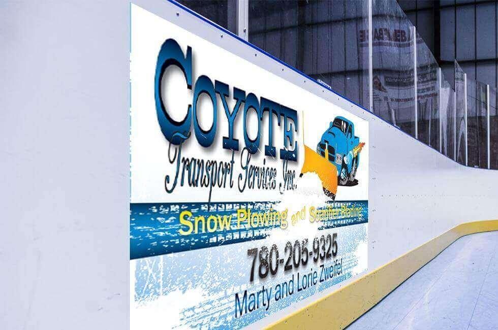 Graphic-Design-Large-Format-Billboard-Arena-Advertisement-Coyote-Transport-Billboard-Sign