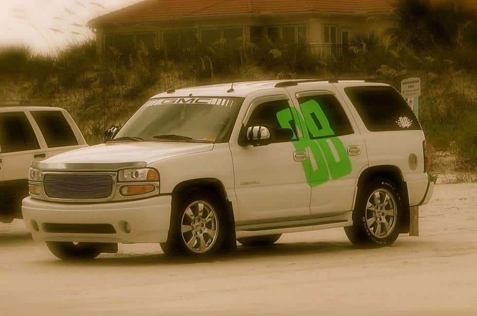 Custom Nascar 88 Truck Decal parked at the beach in Daytona Florida