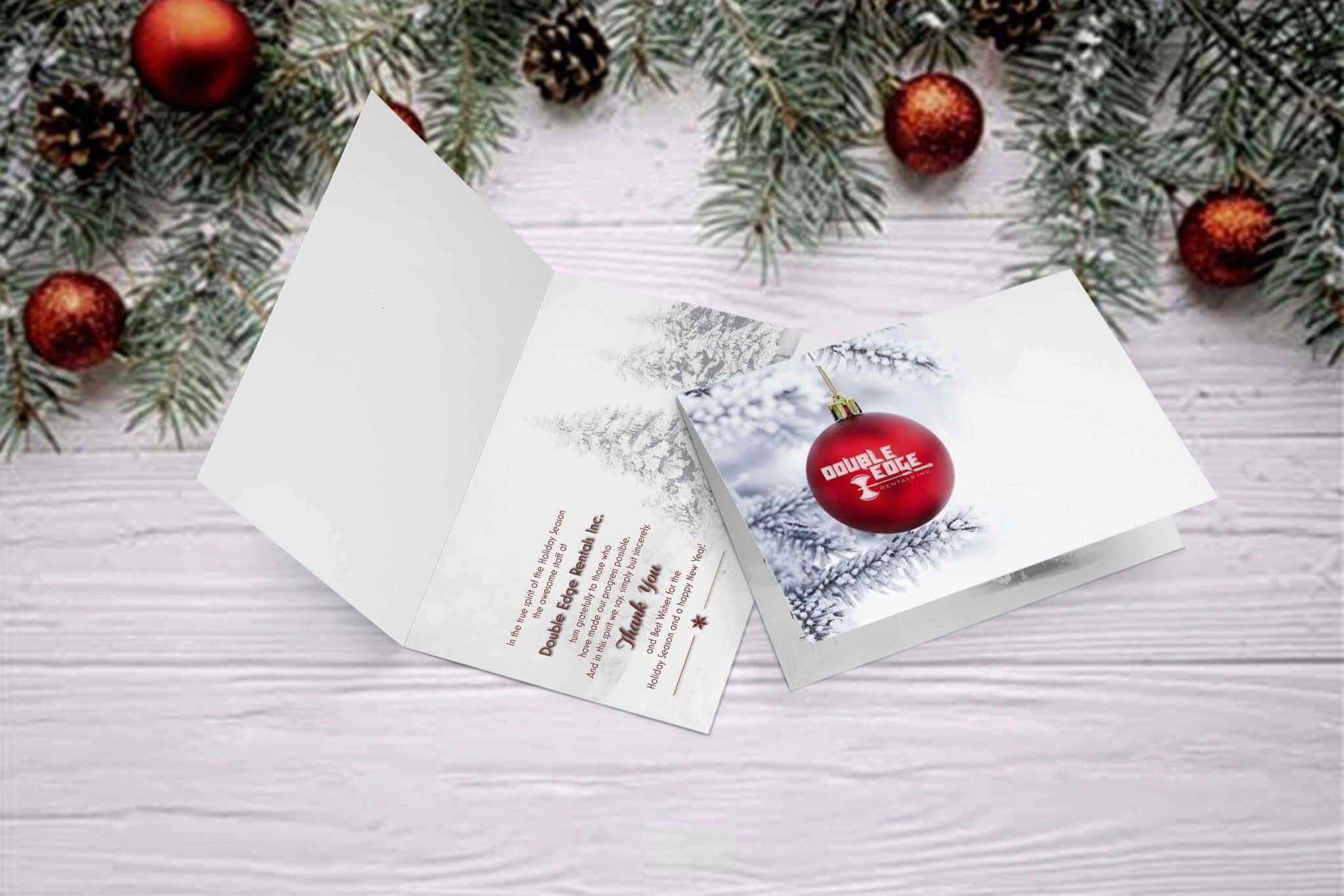 Double Edge Christmas Card Design