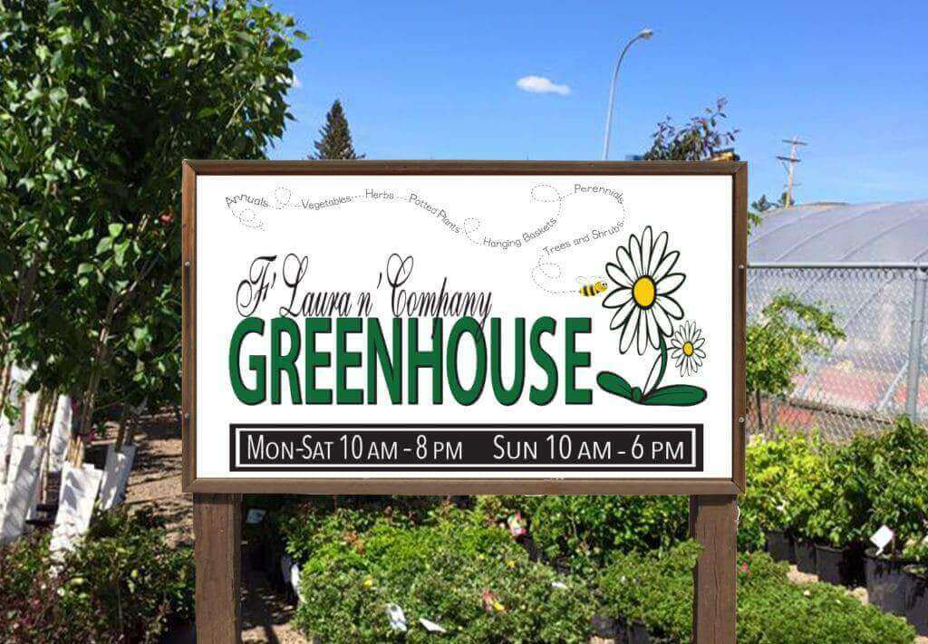 Graphic-Design-Signs-and-Posters-Large-FLaura-n-Company-Greenhouse-Sign