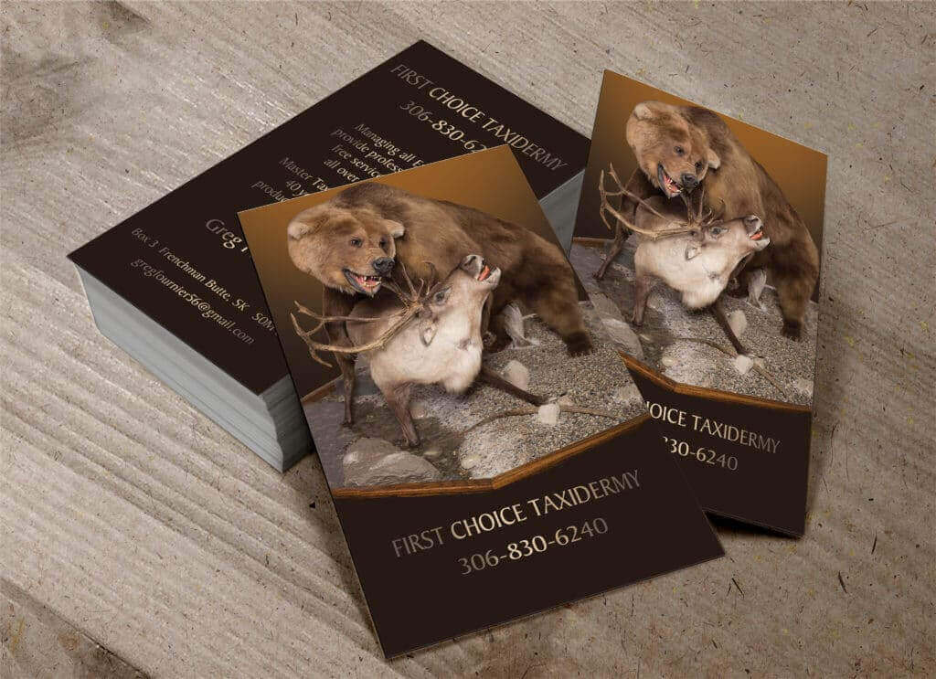 First Choice Taxidermy Business Cards