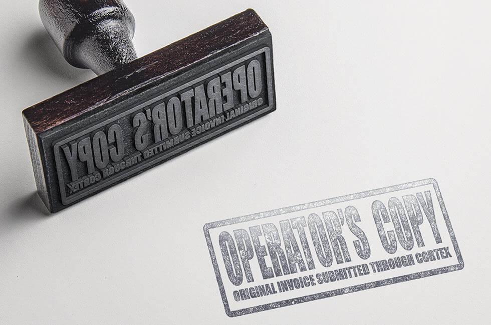 Operators Copy Rubber Stamp