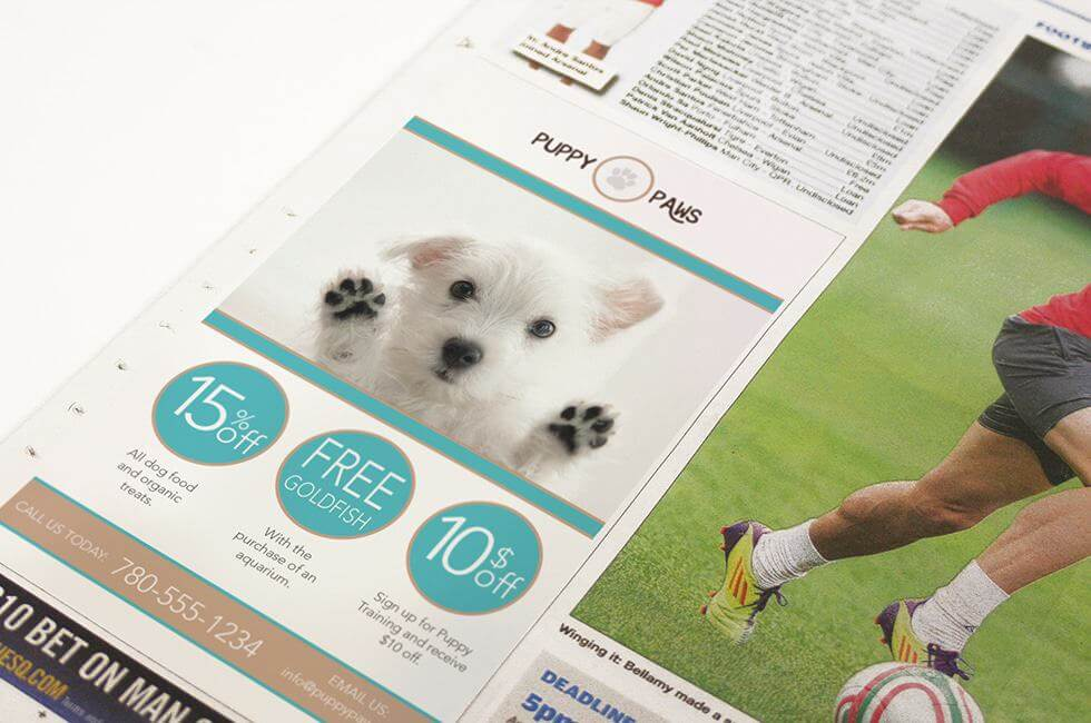 Puppy Paws Advertisment
