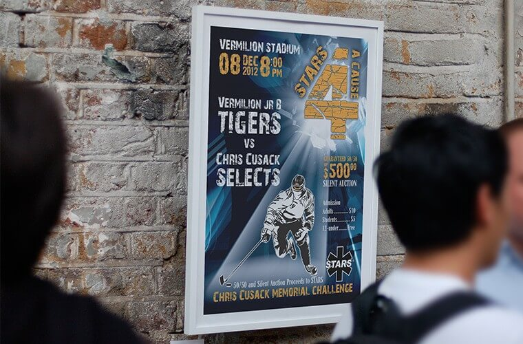 Graphic-Design-Advertising-Vermilion-Jr-B-Tigers-Game-Poster