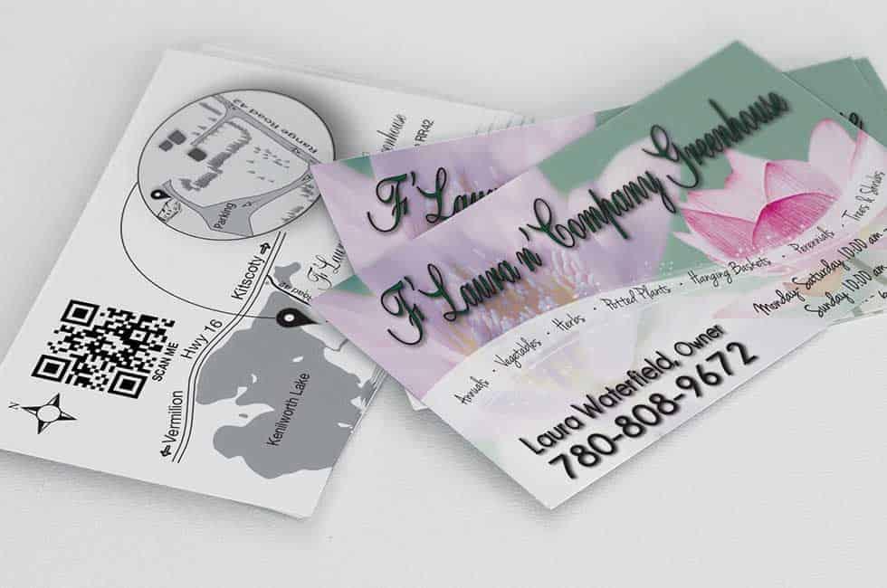 F'Laura n' Company Greenhouse Business Card Design