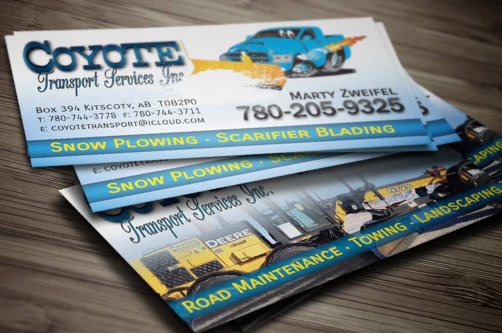 Coyote Transport Services Inc. Business Card Design