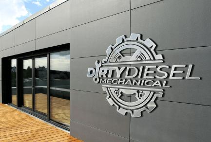 Logo-Design-Dirty-Diesel-Mechanical-Logo