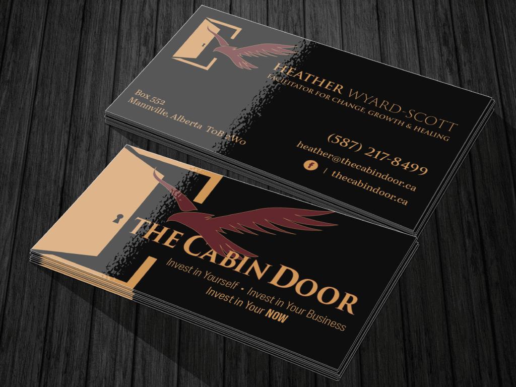 Graphic-Design-The-Cabin-Door-Business-Cards-Designed-By-Lorie-Zweifel