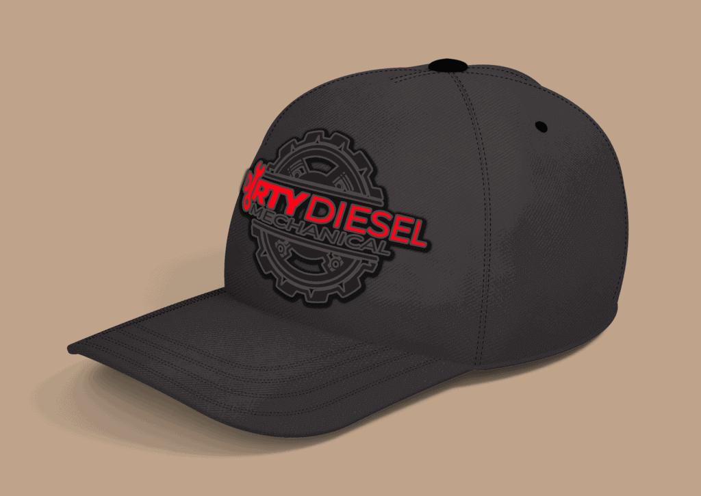 Logo-Design-Dirty-Diesel-Mechanical-Ball-Cap-Enbroidery-Design