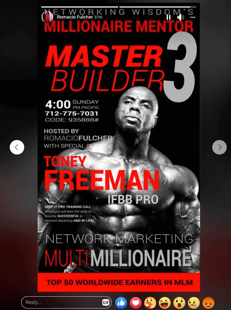 Romacio Fulcher Millionaire Mentor Master Builder 3 Social Media Ad