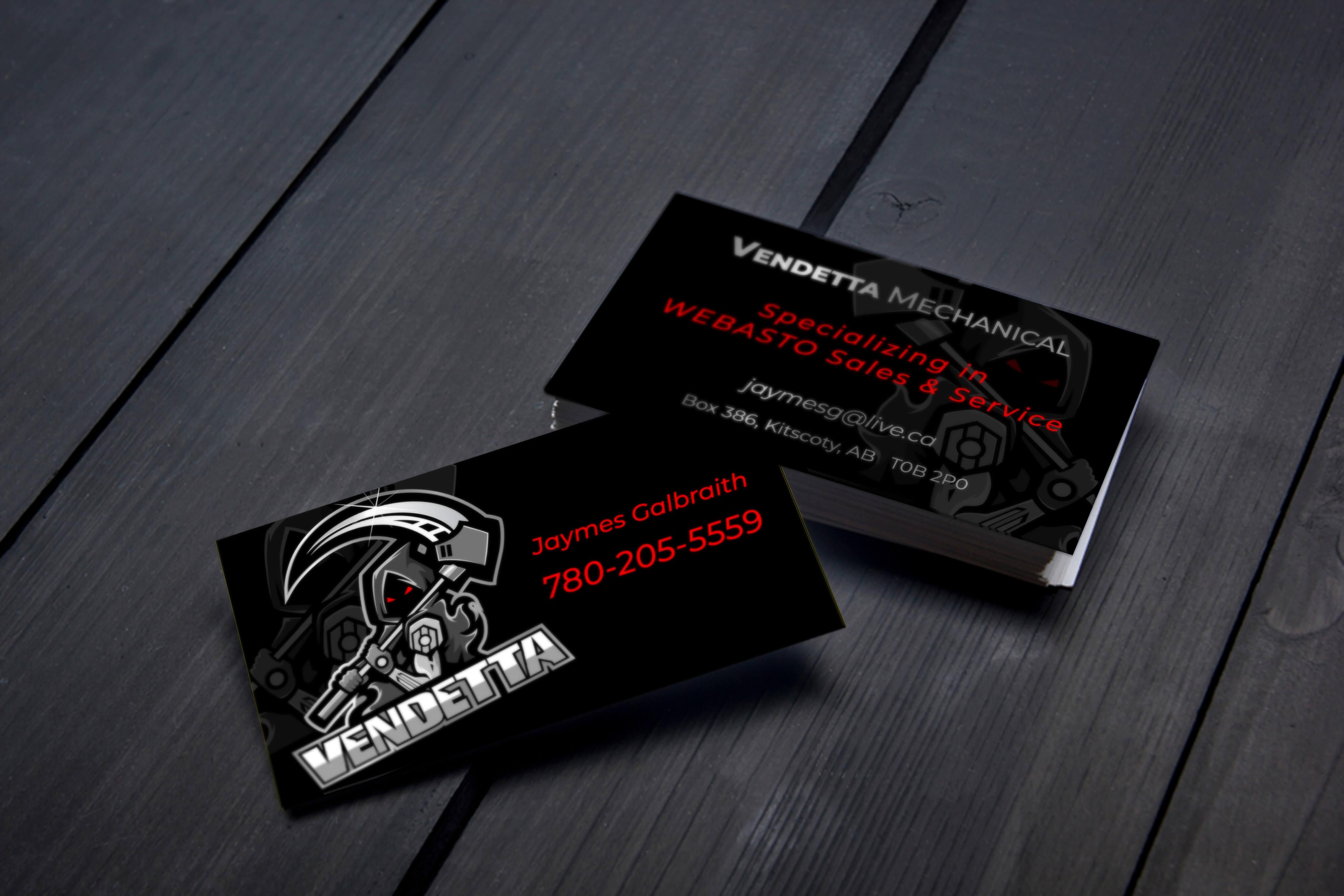 Vendetta Mechanical Business Cards
