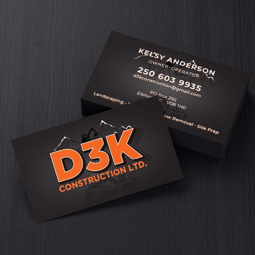 D3K Construction Ltd. Business Cards 100
