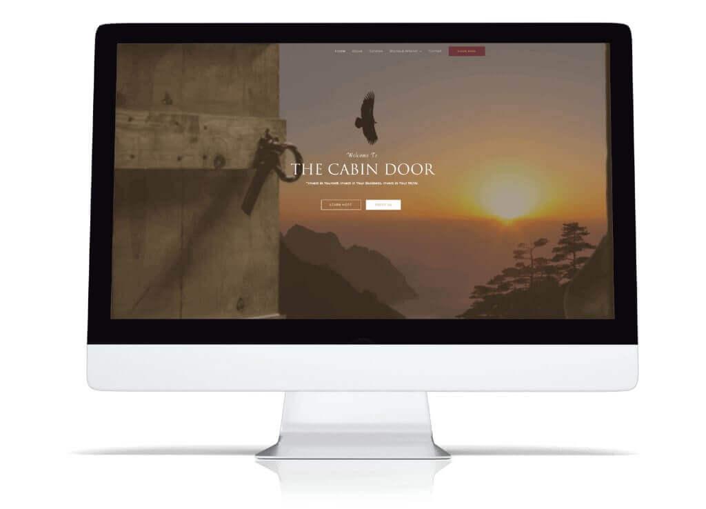 Graphic Design WordPress Website Designer The Cabin Door
