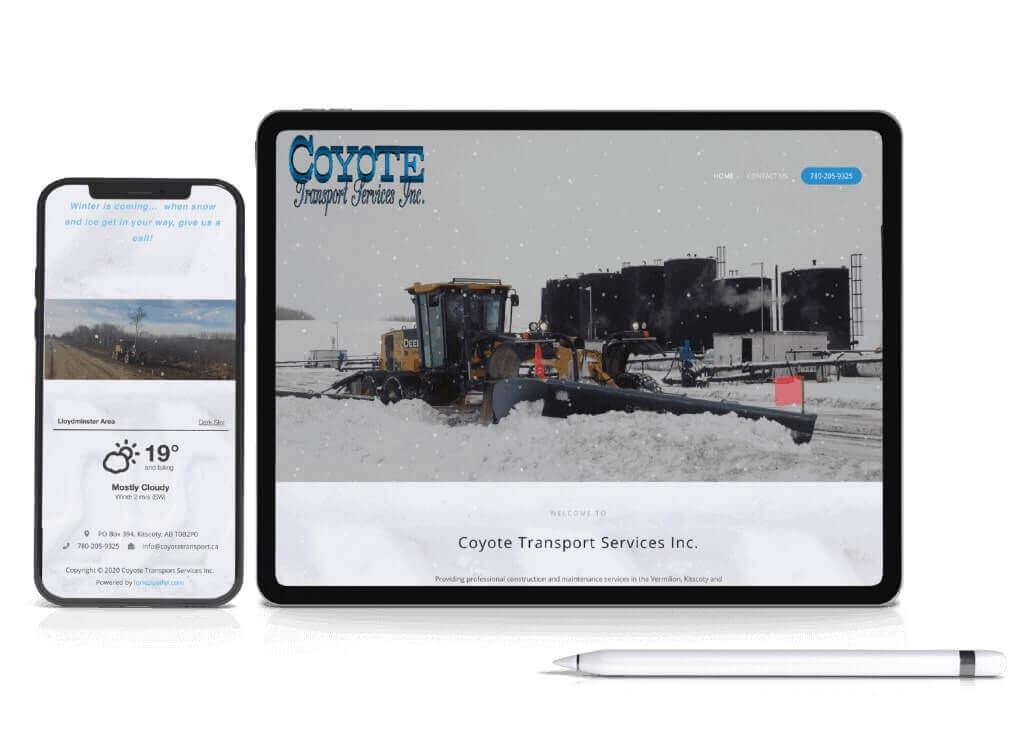 Website Design Coyote Transport