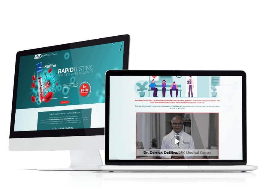 Website Design IOT Covid Response