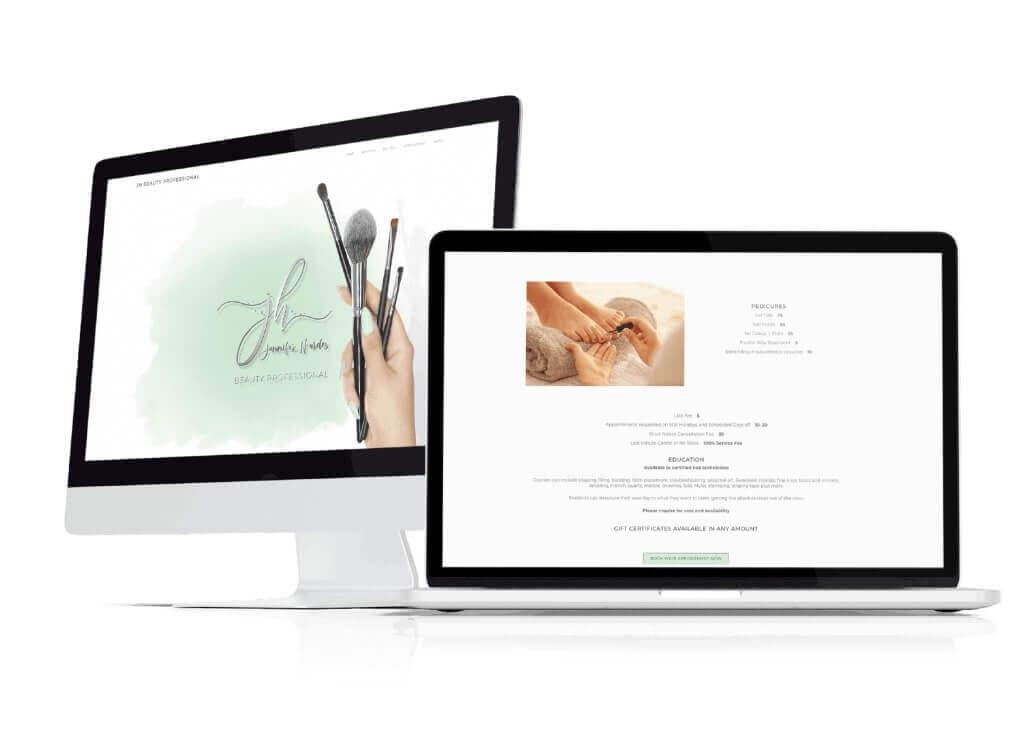 Website Design JH Beauty Pro