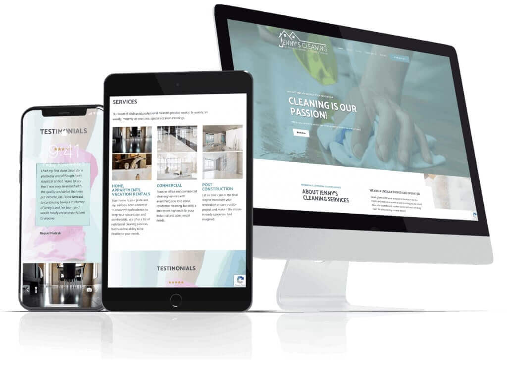 Website Design Jennys Cleaning Services